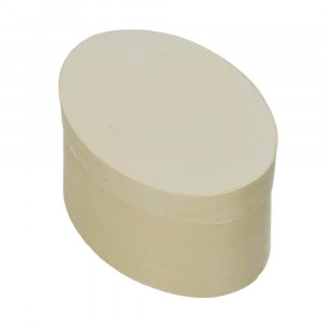 Spandose, oval, d 100 x 70 mm H 50 mm, roh
