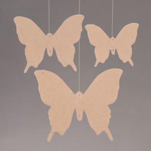 Papp Art 2D-Element, Schmetterling, 10 - 16 cm 3 Stk.